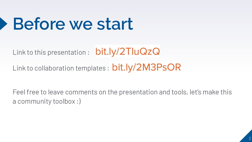 Before we start Link to this presentation : bit...