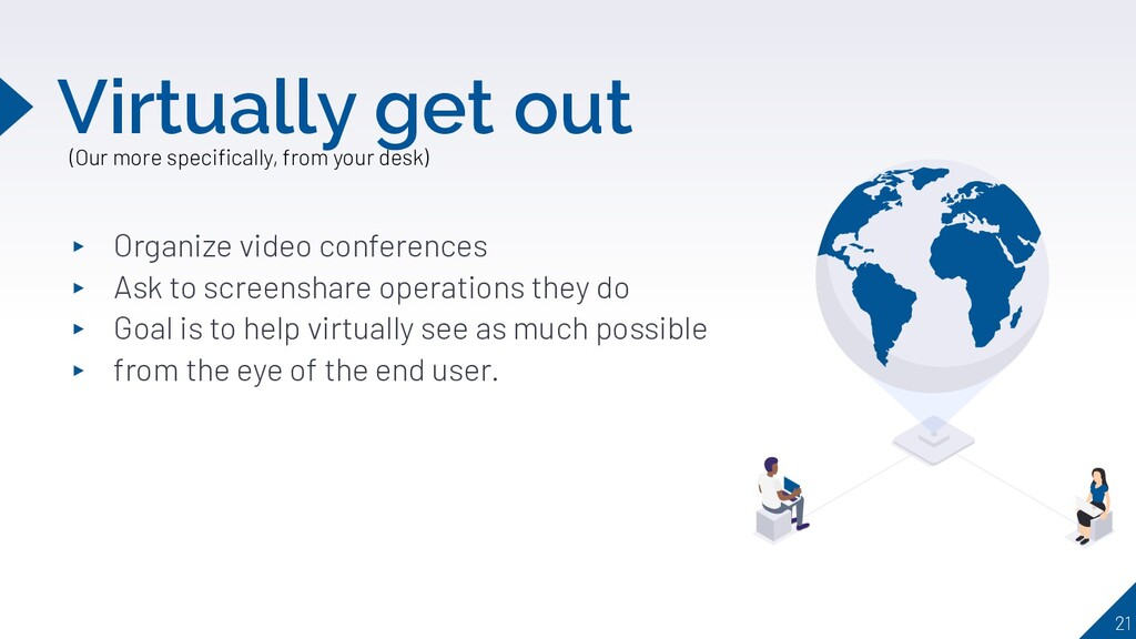 ▸ Organize video conferences ▸ Ask to screensha...