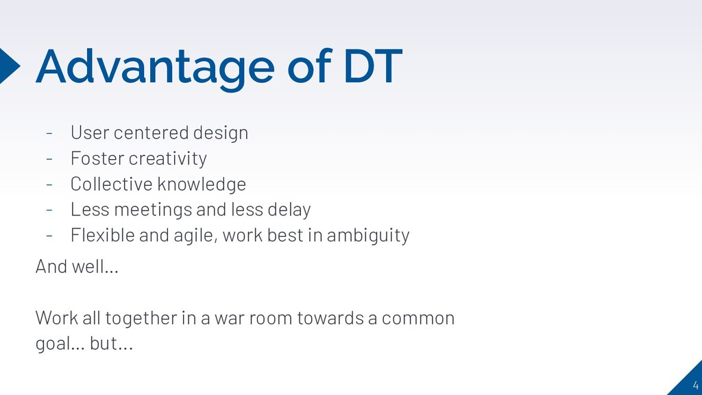 Advantage of DT - User centered design - Foster...