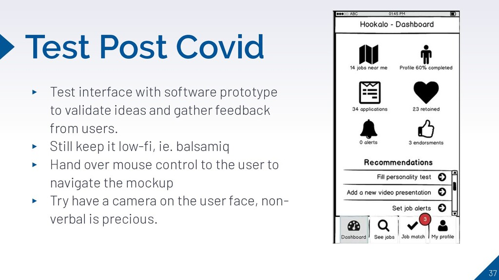 Test Post Covid ▸ Test interface with software ...