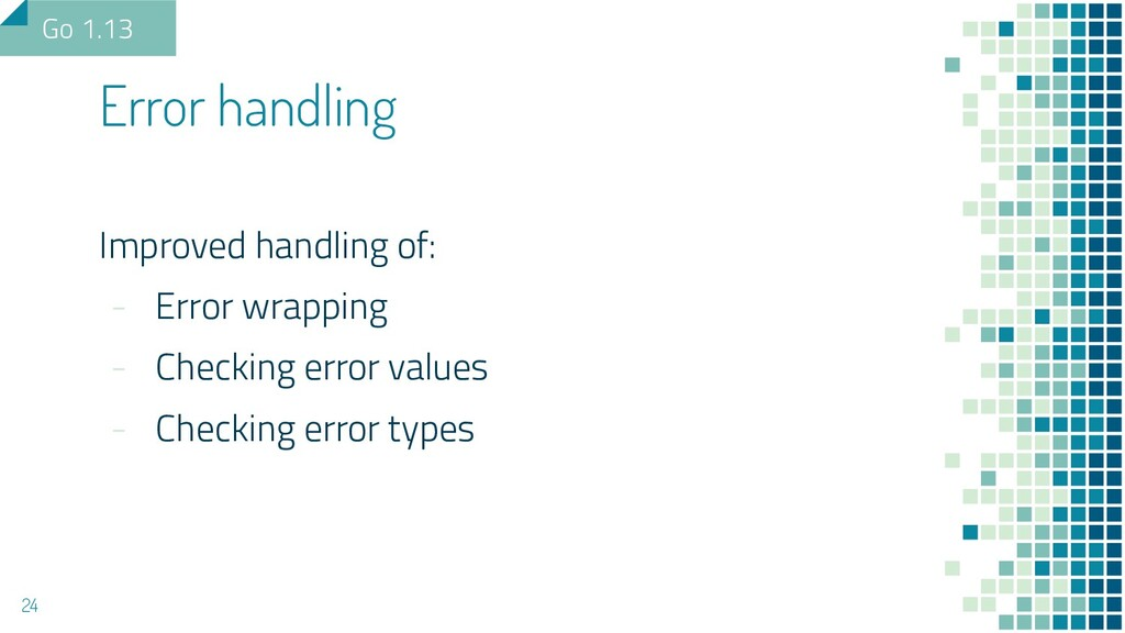 Improved handling of: - Error wrapping - Checki...
