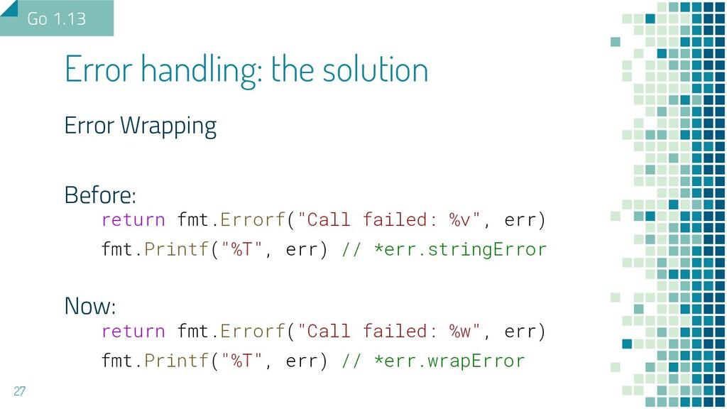 "Error Wrapping Before: return fmt.Errorf(""Call ..."