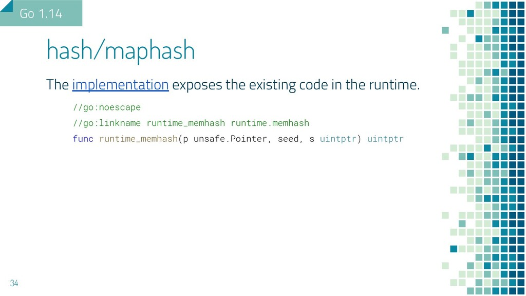 The implementation exposes the existing code in...