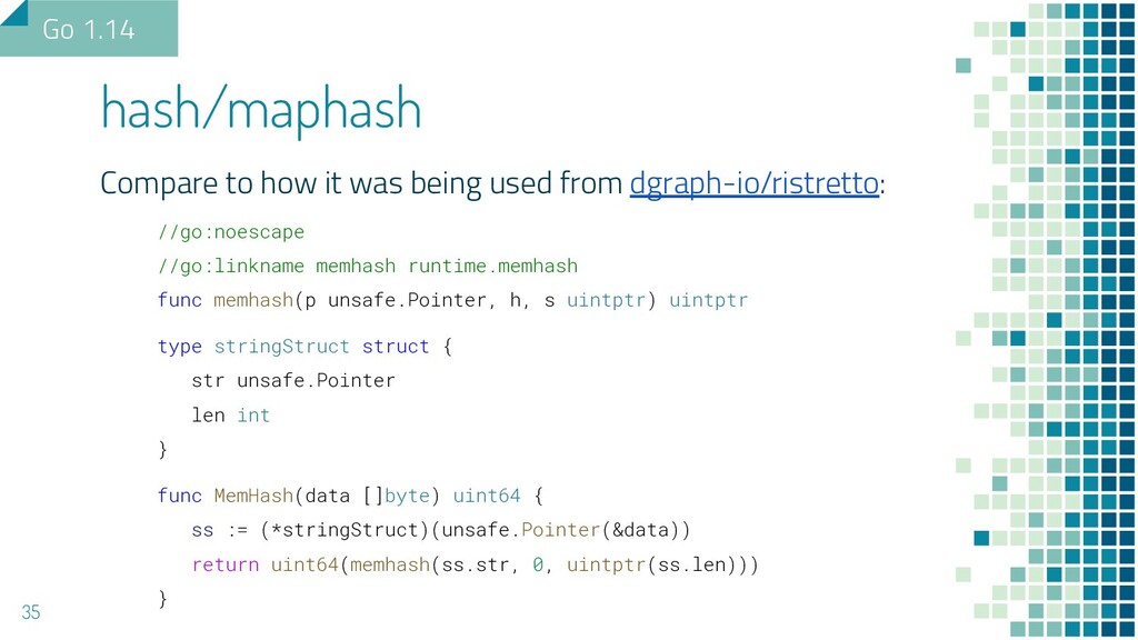 Compare to how it was being used from dgraph-io...