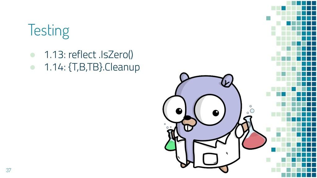 ● 1.13: reflect .IsZero() ● 1.14: {T,B,TB}.Clea...