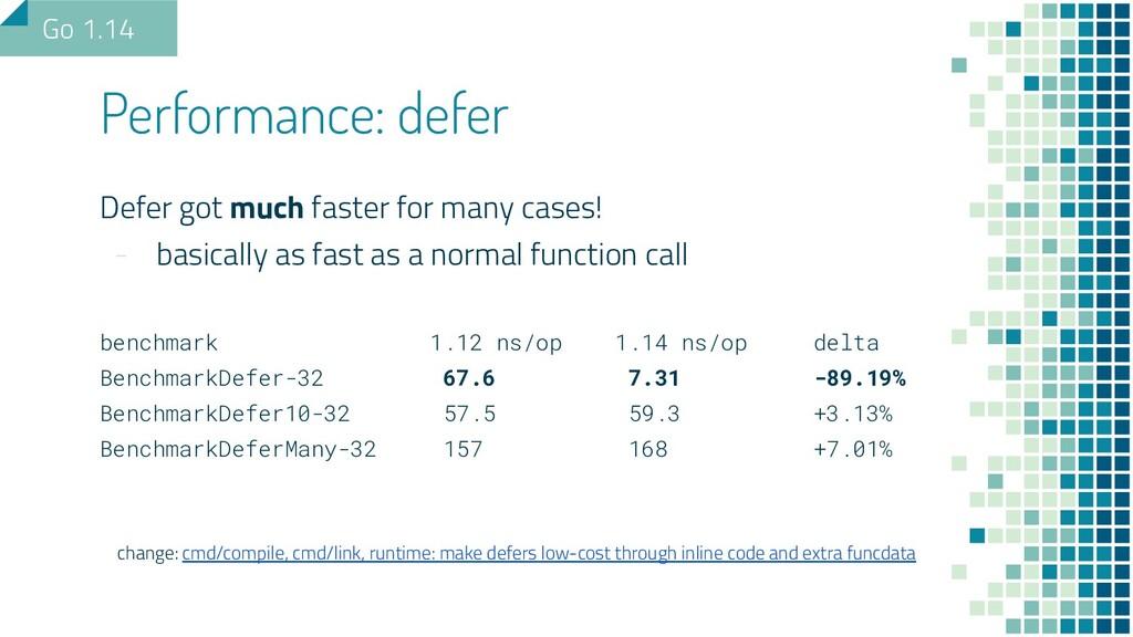 Defer got much faster for many cases! - basical...
