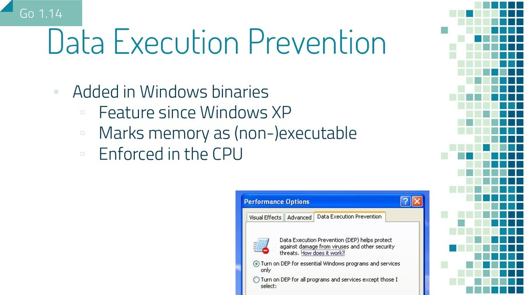 ▪ Added in Windows binaries ▫ Feature since Win...