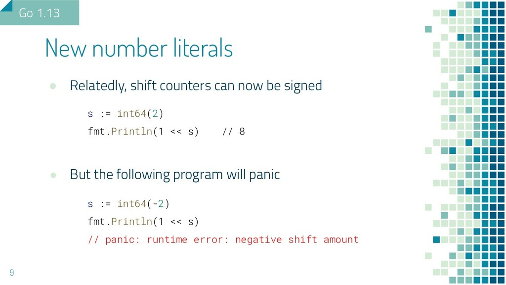 ● Relatedly, shift counters can now be signed s...