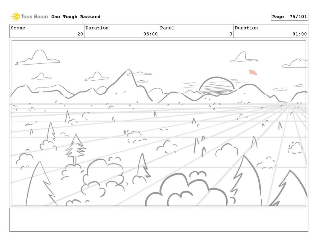 Scene 20 Duration 05:00 Panel 3 Duration 01:00 ...
