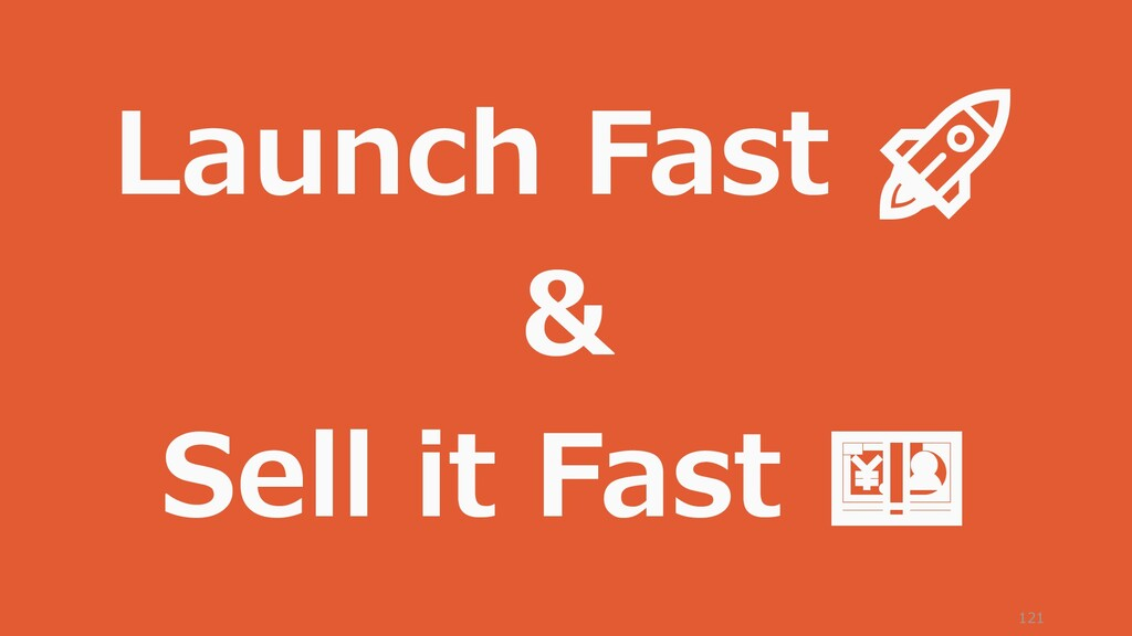 121 Launch Fast  & Sell it Fast