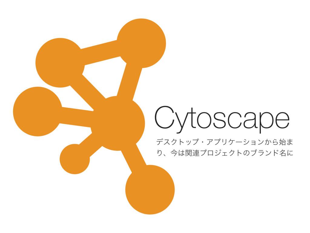Cytoscape σεΫτοϓɾΞϓϦέʔγϣϯ͔Β· Γɺࠓؔ࿈ϓϩδΣΫτͷϒϥϯυ...