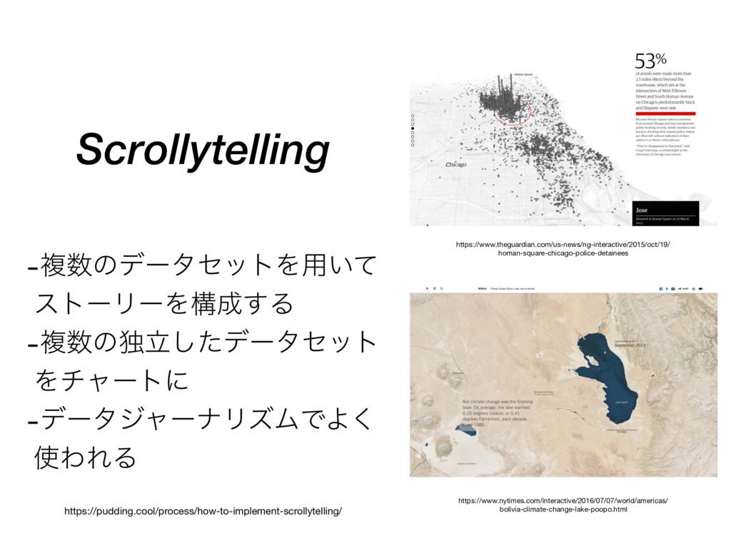 Scrollytelling -ෳͷσʔληοτΛ༻͍ͯ ετʔϦʔΛߏ͢Δ -ෳͷಠཱ...