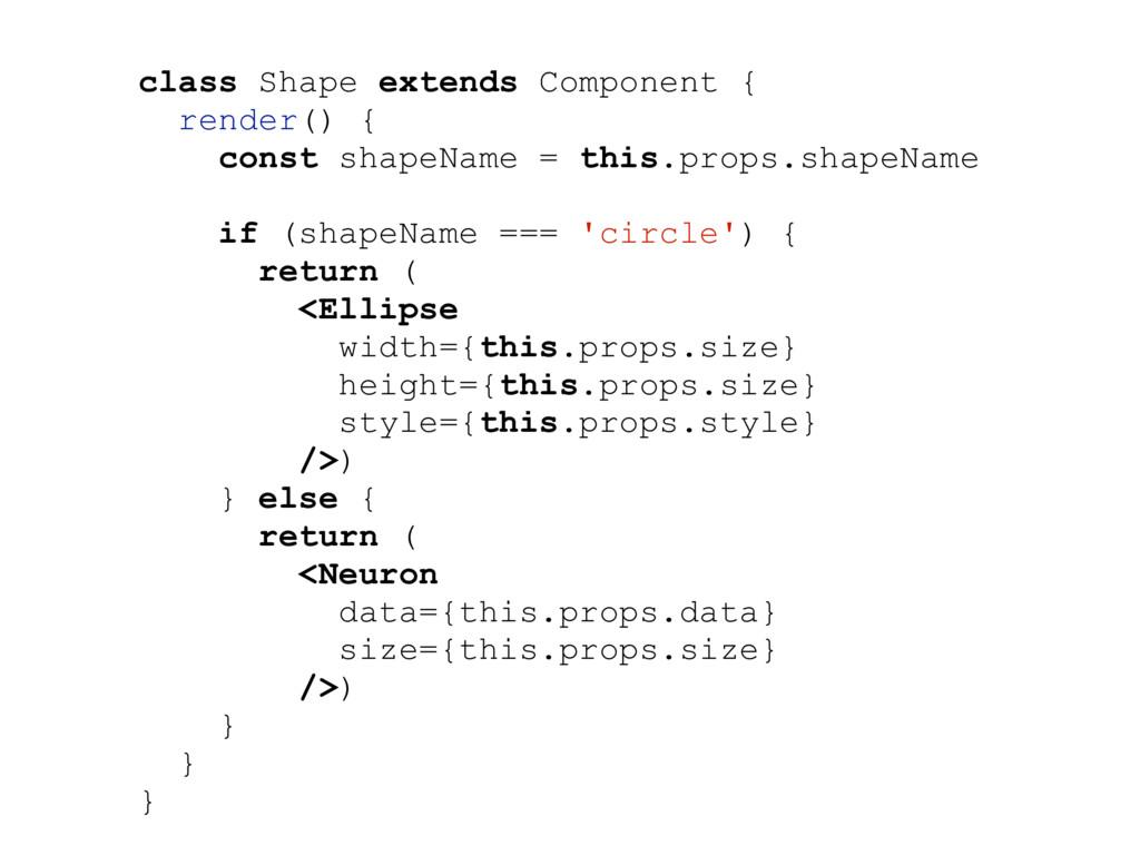 class Shape extends Component { render() { cons...