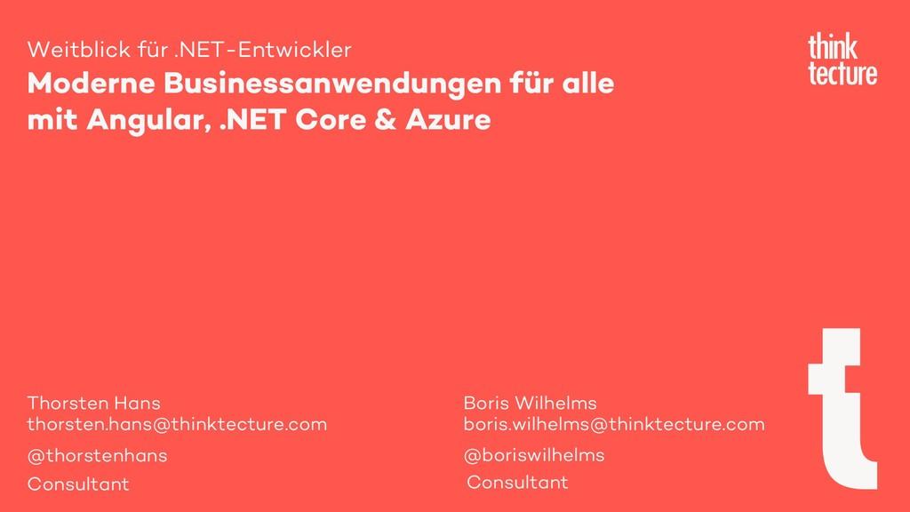 Weitblick für .NET-Entwickler Moderne Businessa...