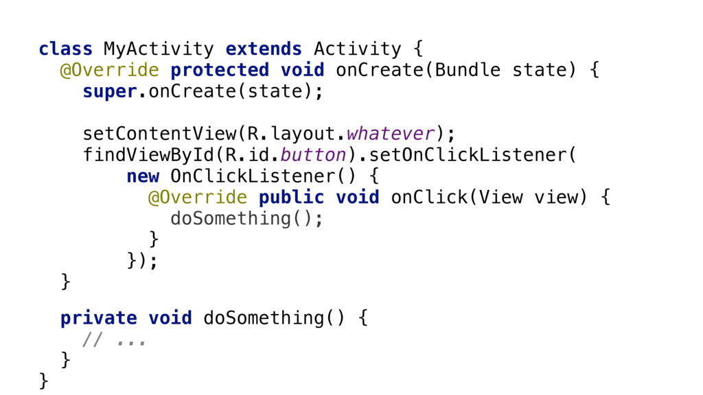 class MyActivity extends Activity {