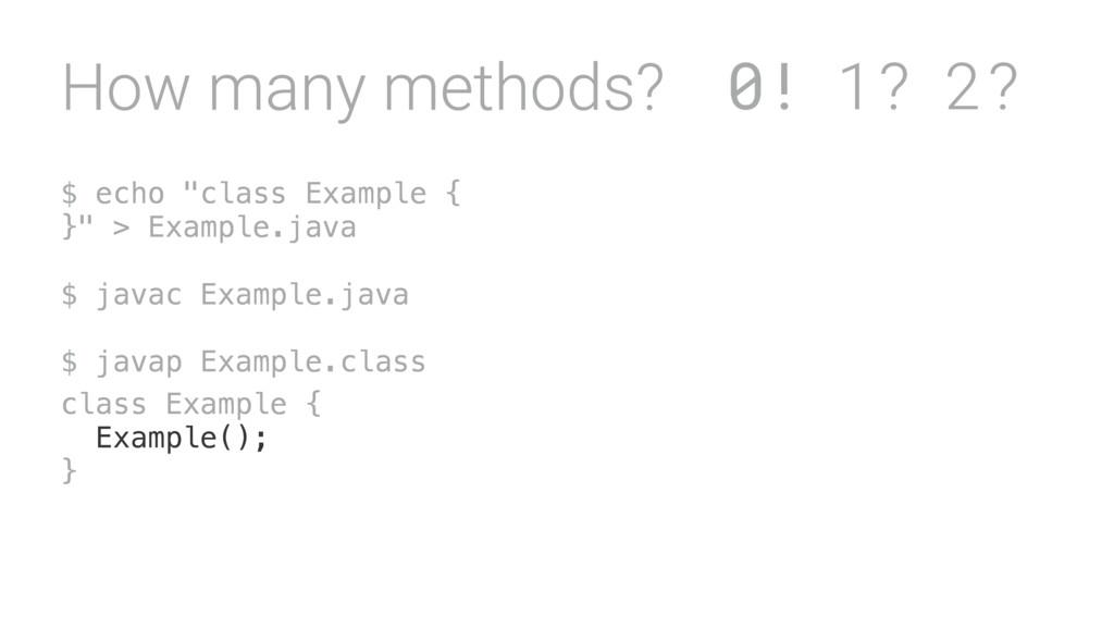 "$ echo ""class Example { }"" > Example.java $ ja..."