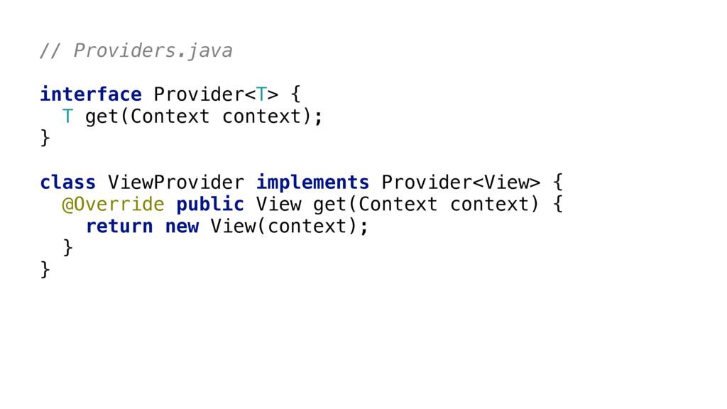 // Providers.java       class ViewProvide...