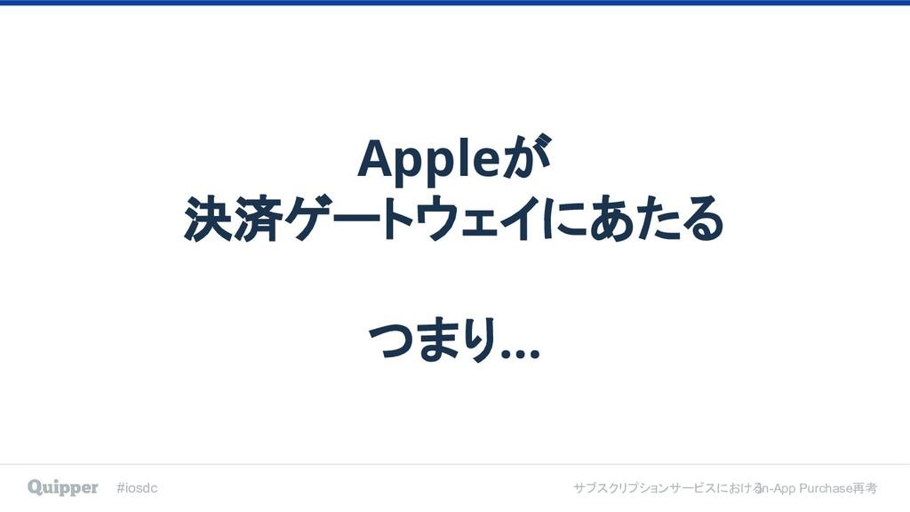 #iosdc サブスクリプションサービスにおける In-App Purchase再考 Appl...