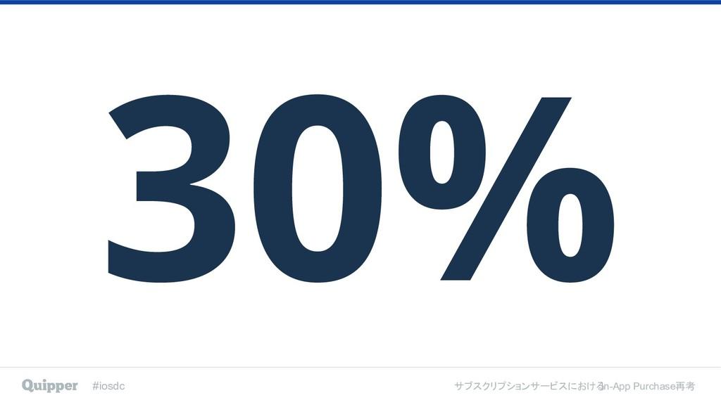 #iosdc サブスクリプションサービスにおける In-App Purchase再考 30%