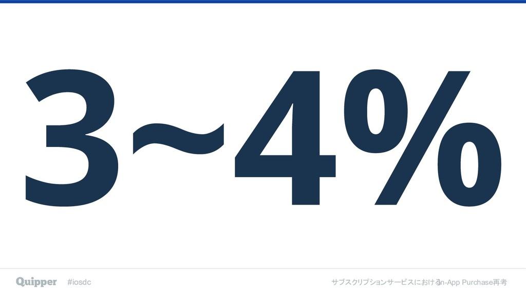 #iosdc サブスクリプションサービスにおける In-App Purchase再考 3~4%