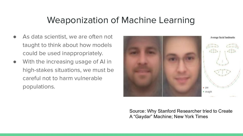 Weaponization of Machine Learning ● As data sci...