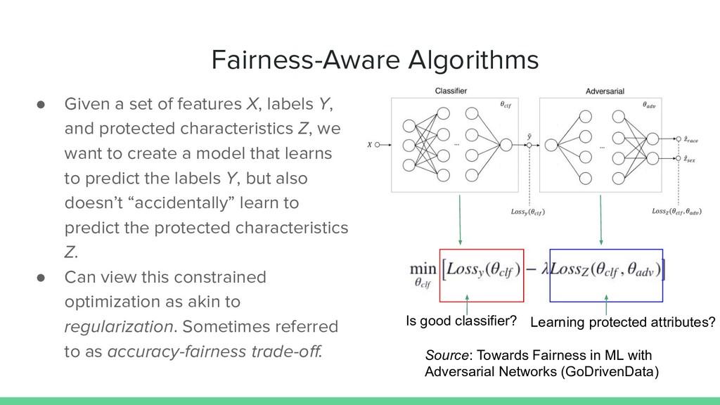 Fairness-Aware Algorithms ● Given a set of feat...