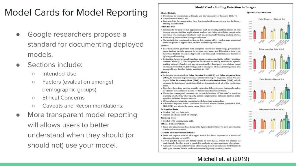 Model Cards for Model Reporting ● Google resear...
