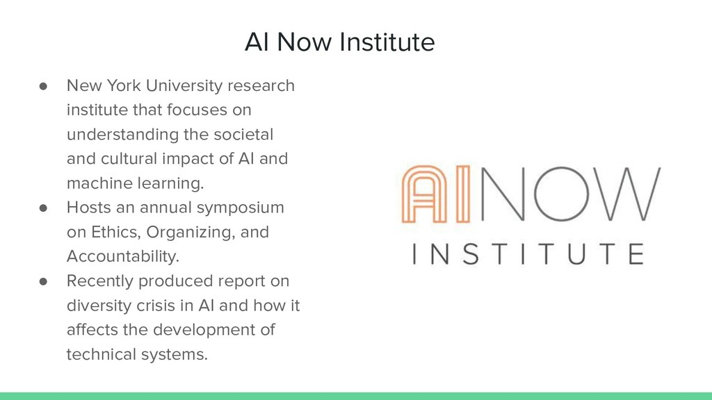 AI Now Institute ● New York University research...