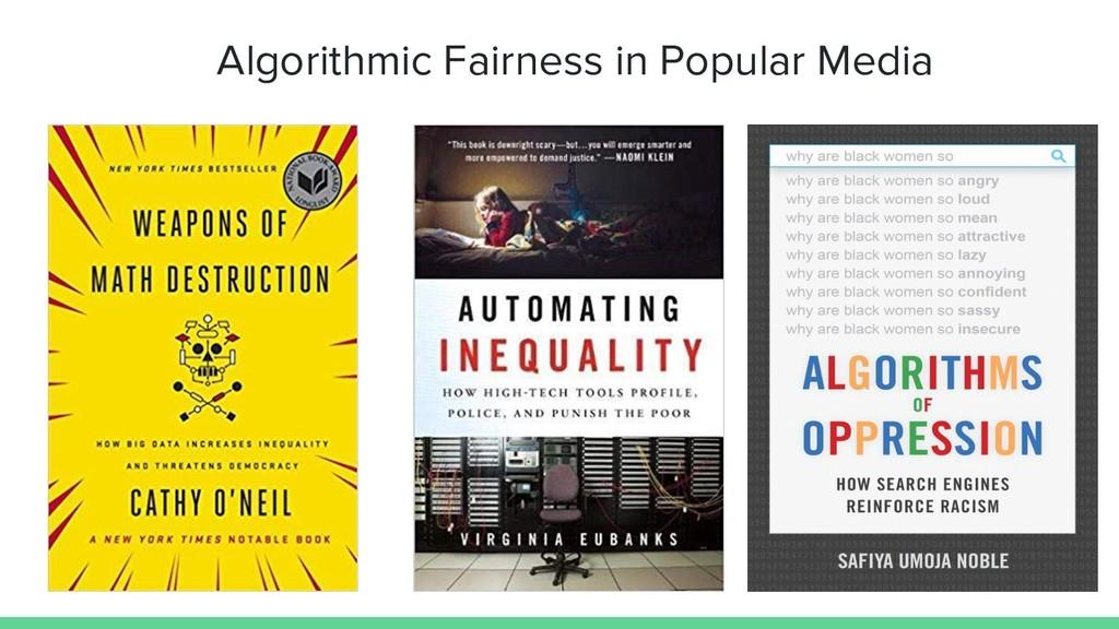 Algorithmic Fairness in Popular Media