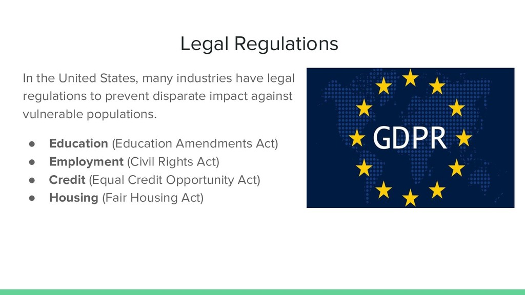 Legal Regulations In the United States, many in...