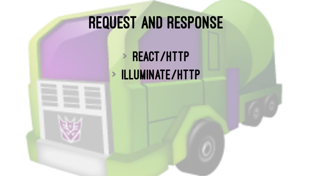 REQUEST AND RESPONSE > react/http > illuminate/...