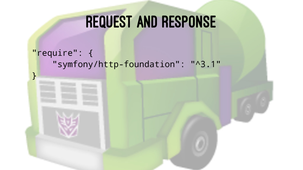 """REQUEST AND RESPONSE """"require"""": { """"symfony/http..."""