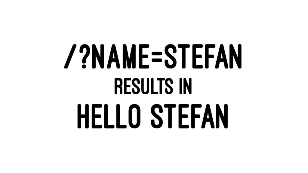 /?NAME=STEFAN RESULTS IN HELLO STEFAN