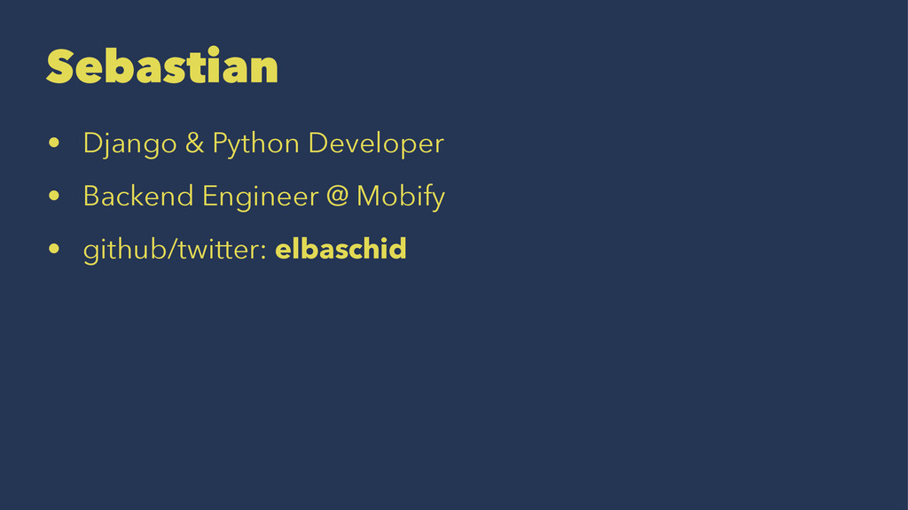 Sebastian • Django & Python Developer • Backend...