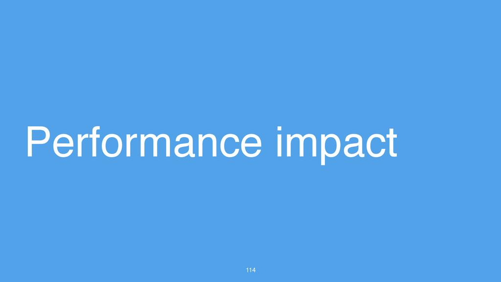 114 Performance impact