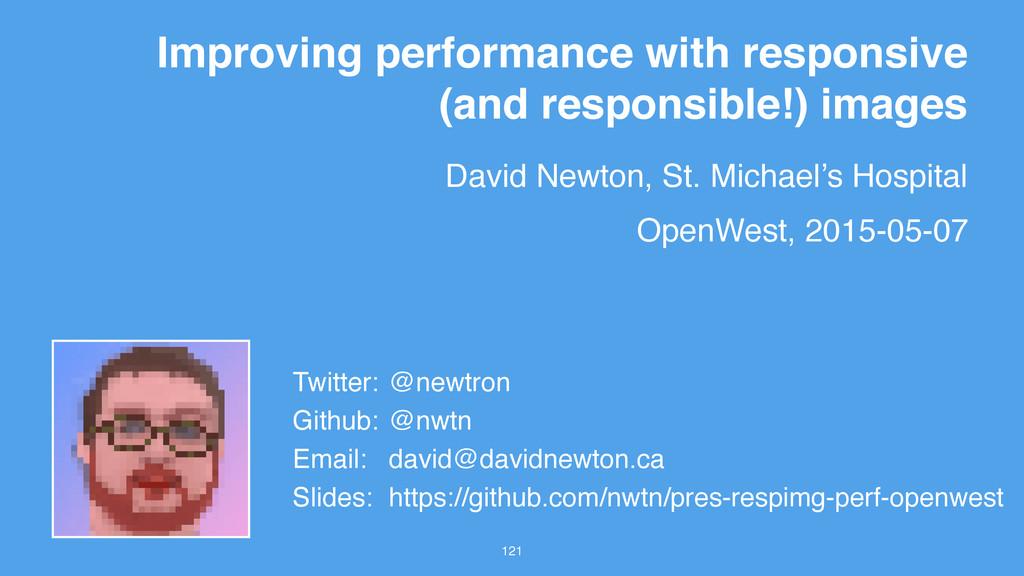David Newton, St. Michael's Hospital 121 Improv...