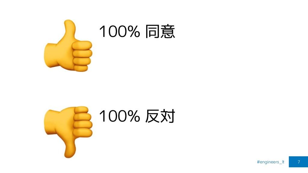 #engineers_lt 7 100% 同意 100% 反対