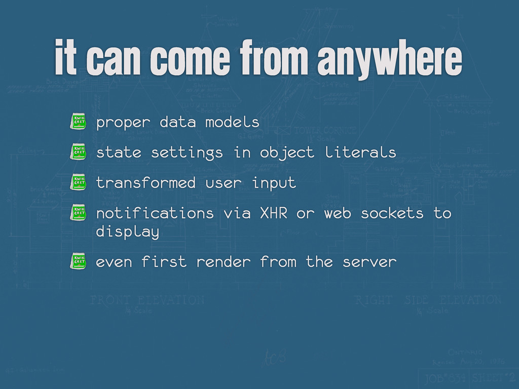 it can come from anywhere proper data models st...