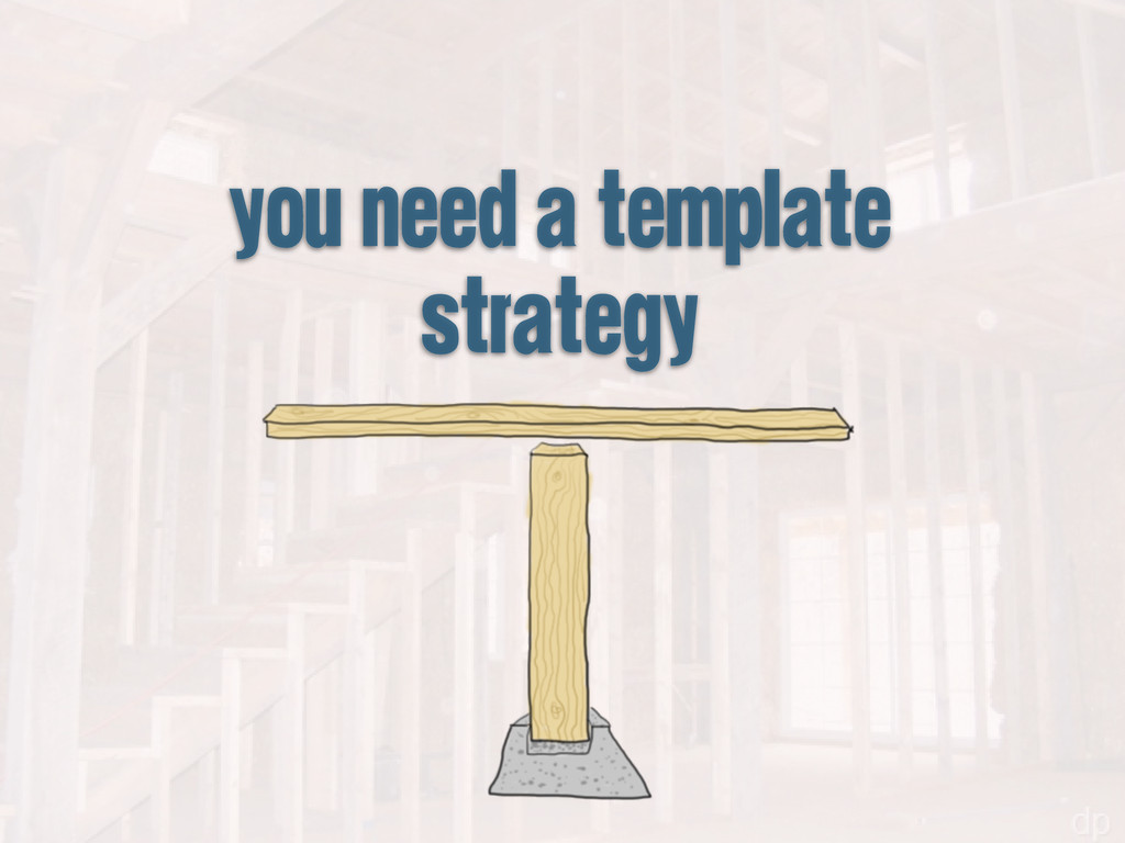 you need a template strategy