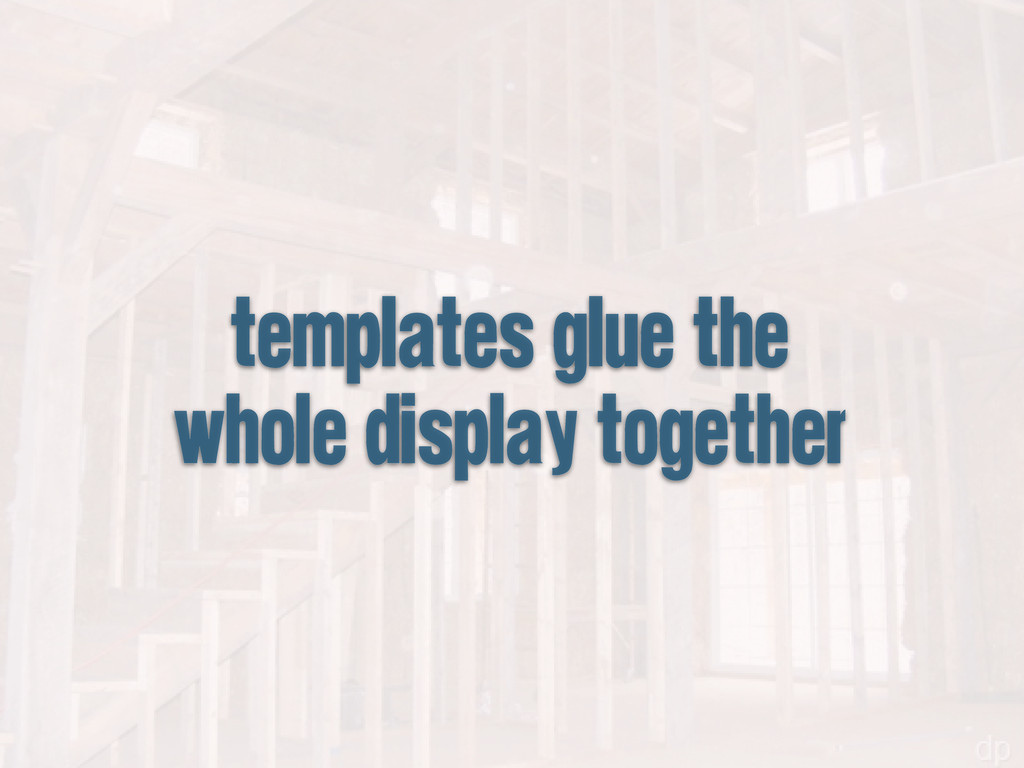 templates glue the whole display together