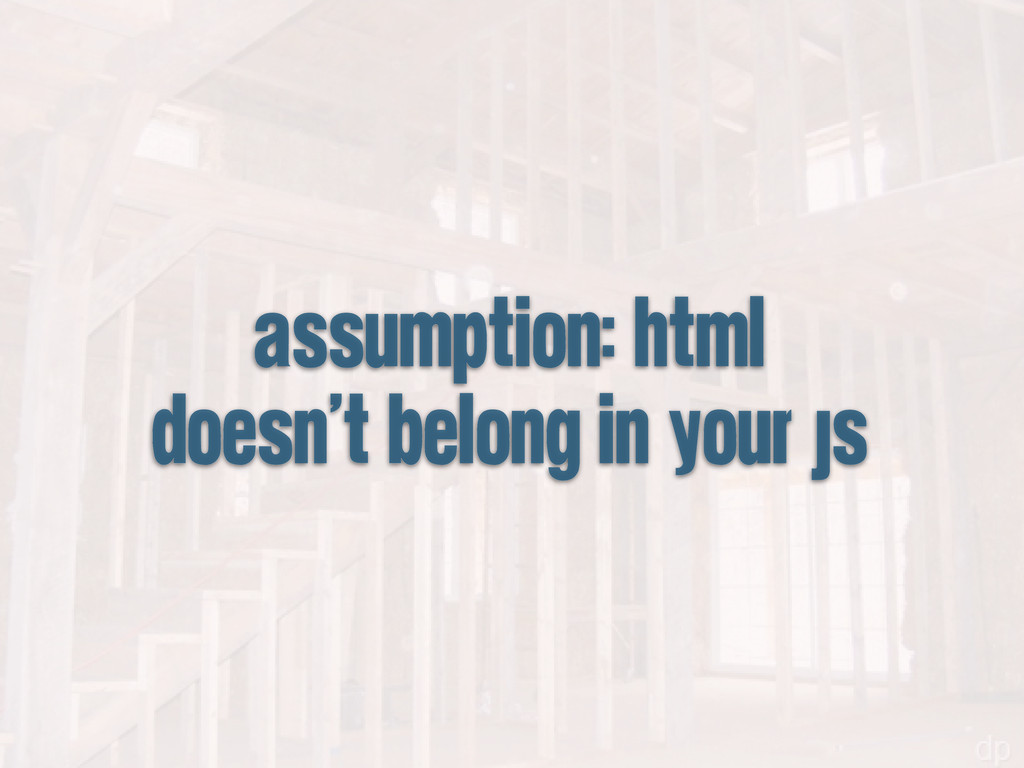 assumption: html doesn't belong in your js