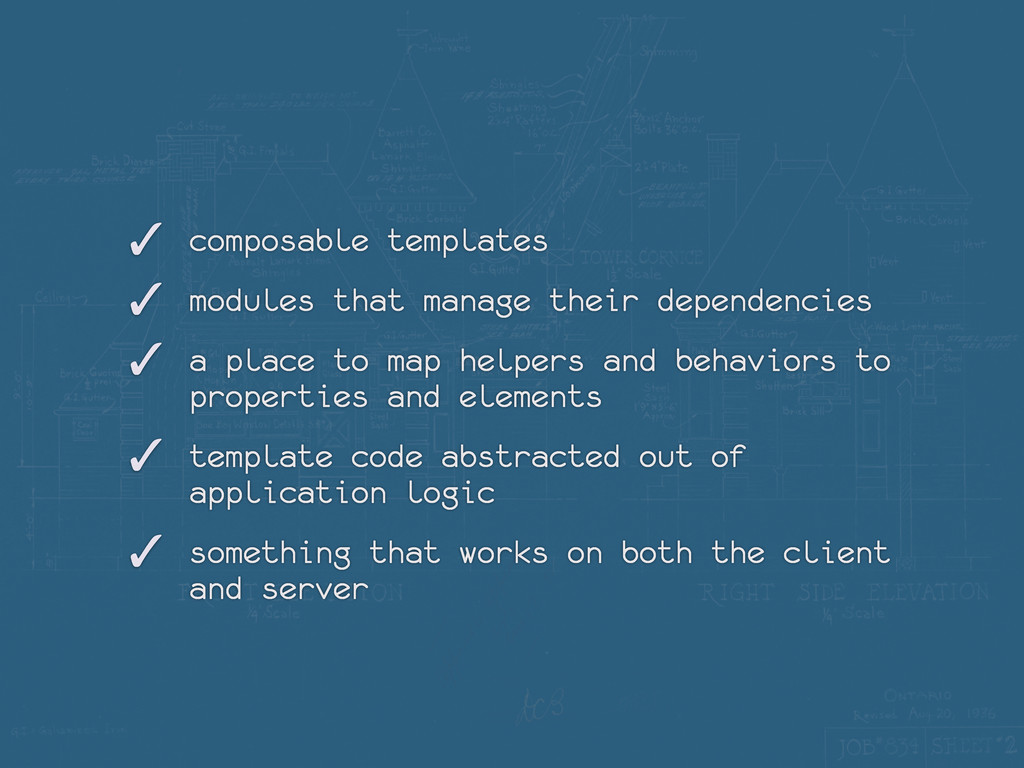 ✓ composable templates ✓ modules that manage th...