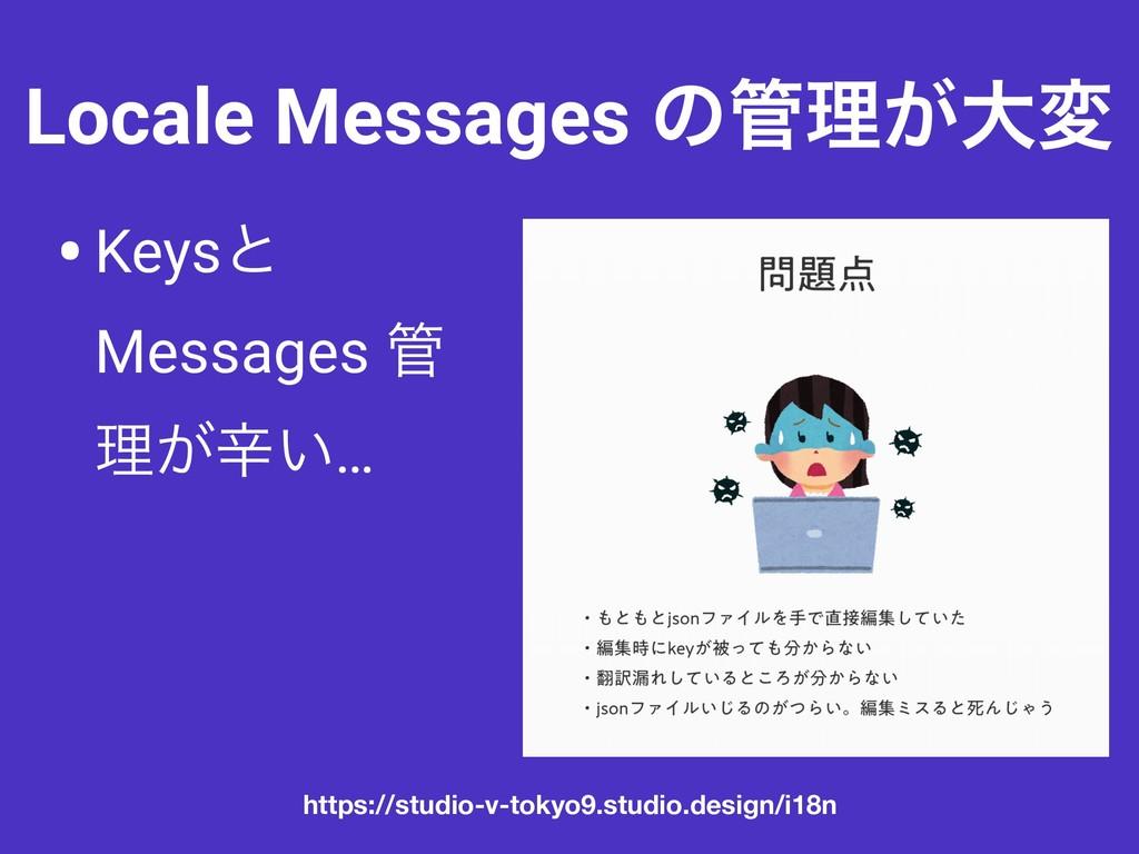 Locale Messages ͷཧ͕େม •Keysͱ Messages  ཧ͕ਏ͍… ...