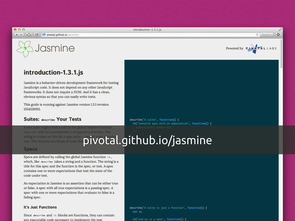 pivotal.github.io/jasmine