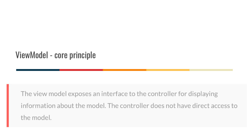 ViewModel - core principle
