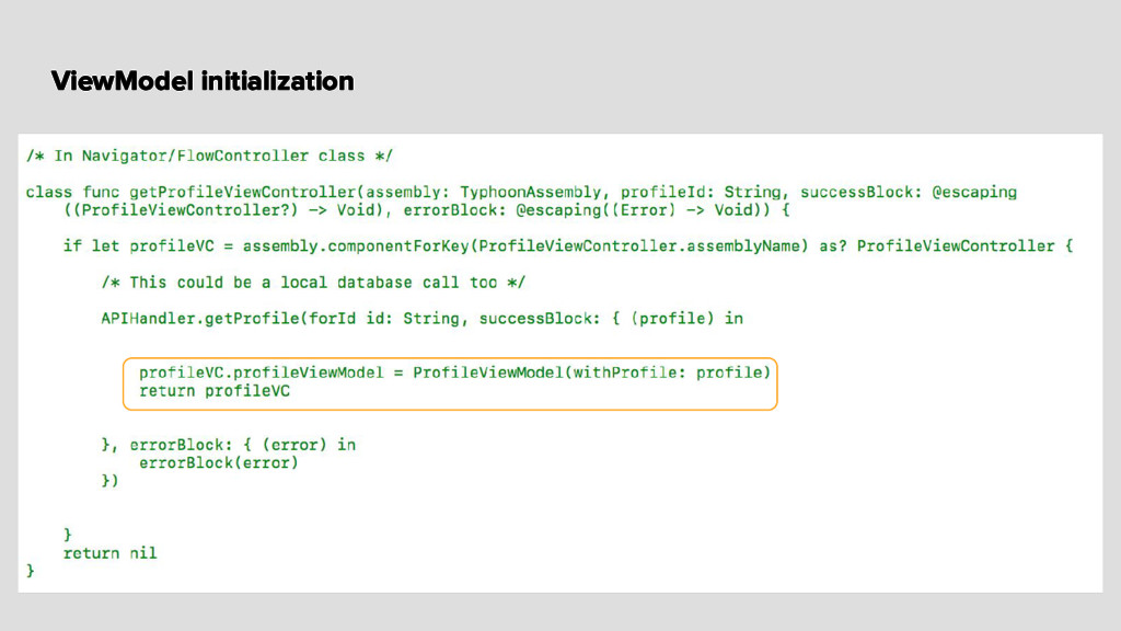 ViewModel initialization