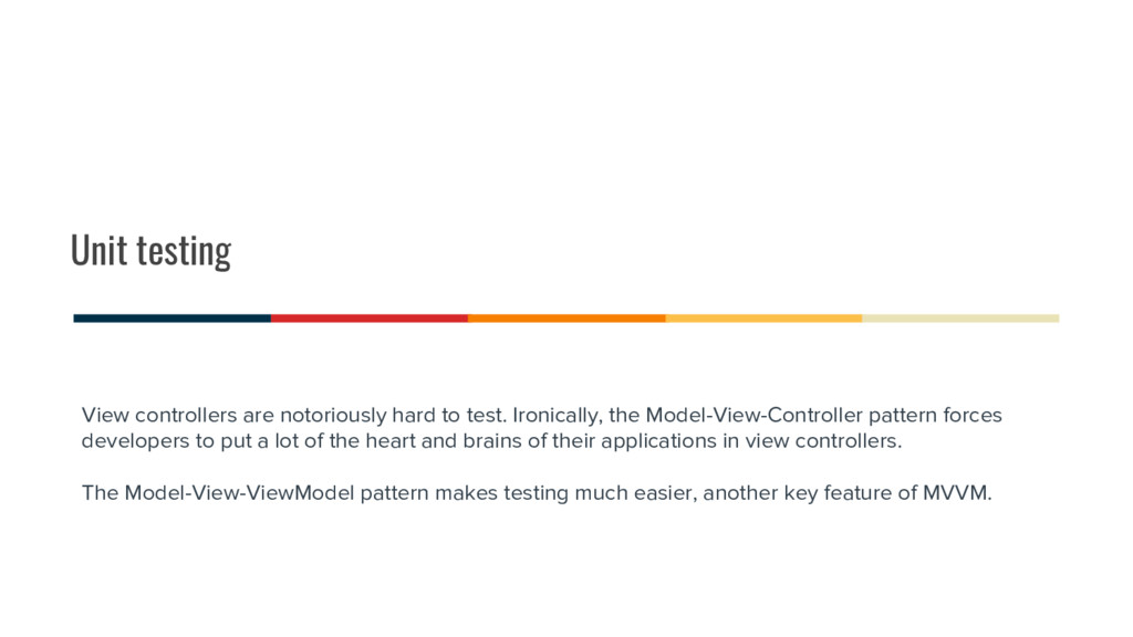 Unit testing View controllers are notoriously h...