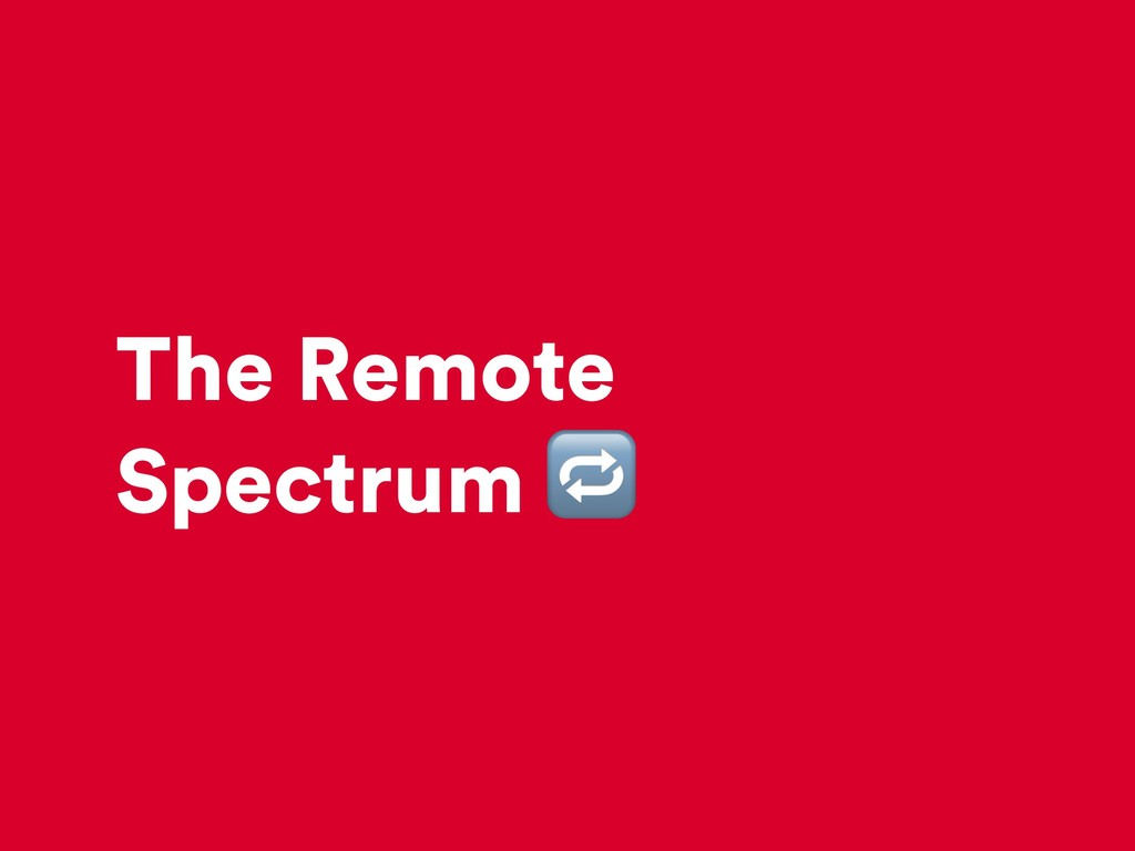 The Remote Spectrum