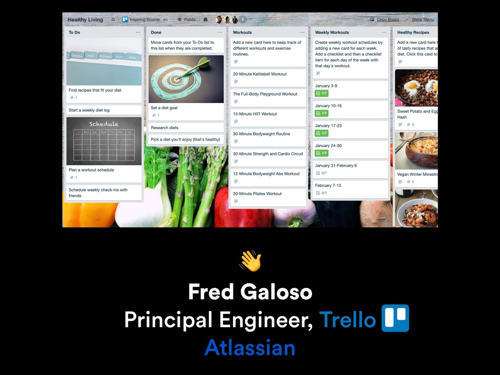 Fred Galoso Principal Engineer, Trello Atlass...