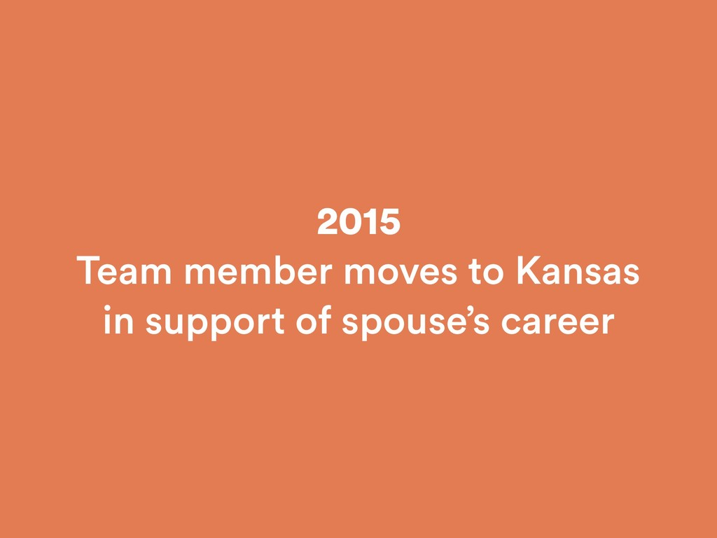 2015 Team member moves to Kansas in support of ...